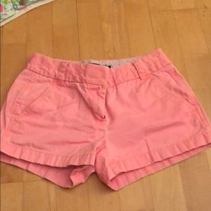Bright pink chino shorts